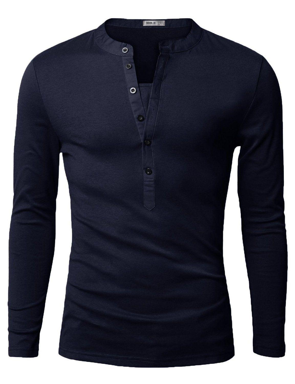 Doublju mens henley tshirts with long sleeve charcoal us