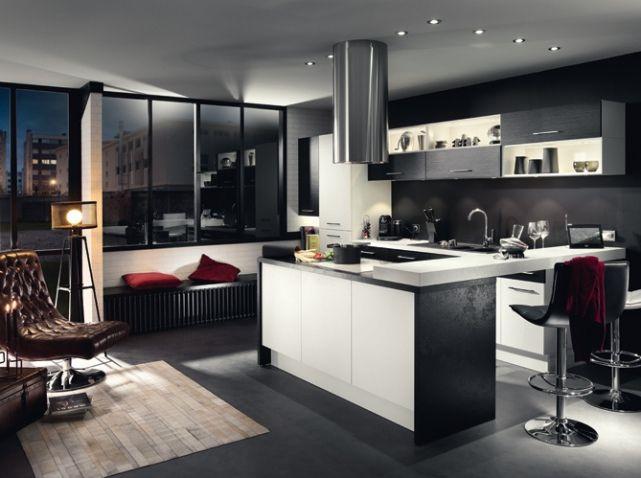Cuisines design nos mod les pr f r s d co cuisine ilot cuisine cuisines design et cuisine - Cuisine americaine blanche ...