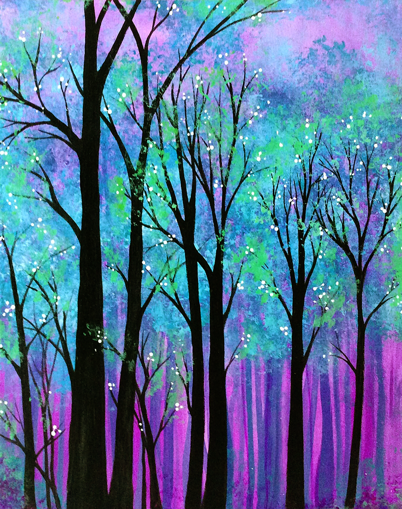 Our Paintings Gallery 1 Neon Art Painting Neon Painting Paint And Sip