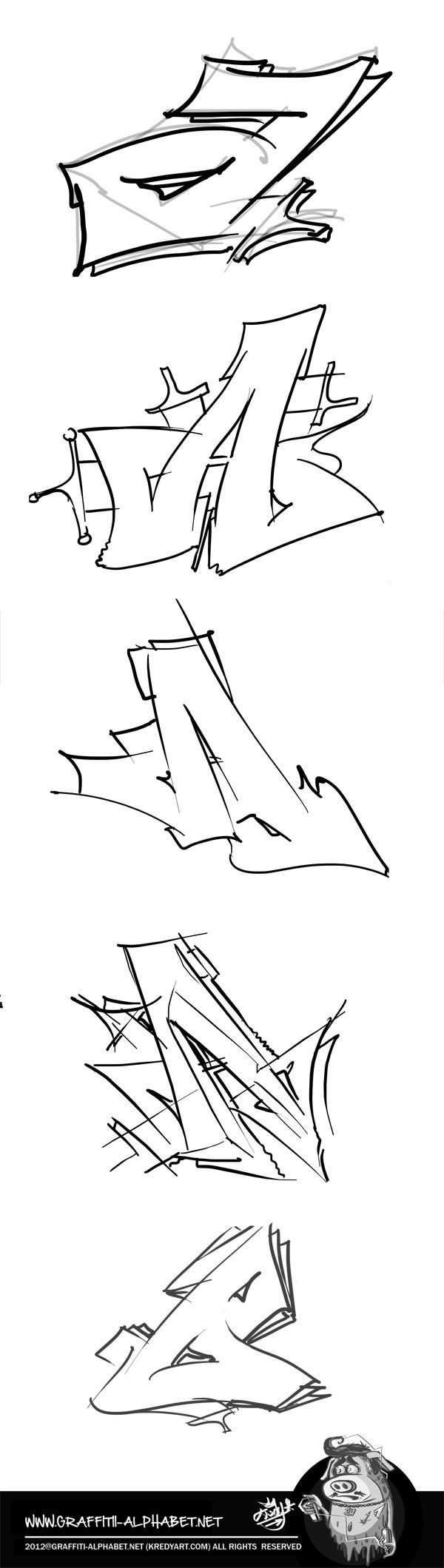 Pin by Migdalia on anime Graffiti alphabet, Graffiti