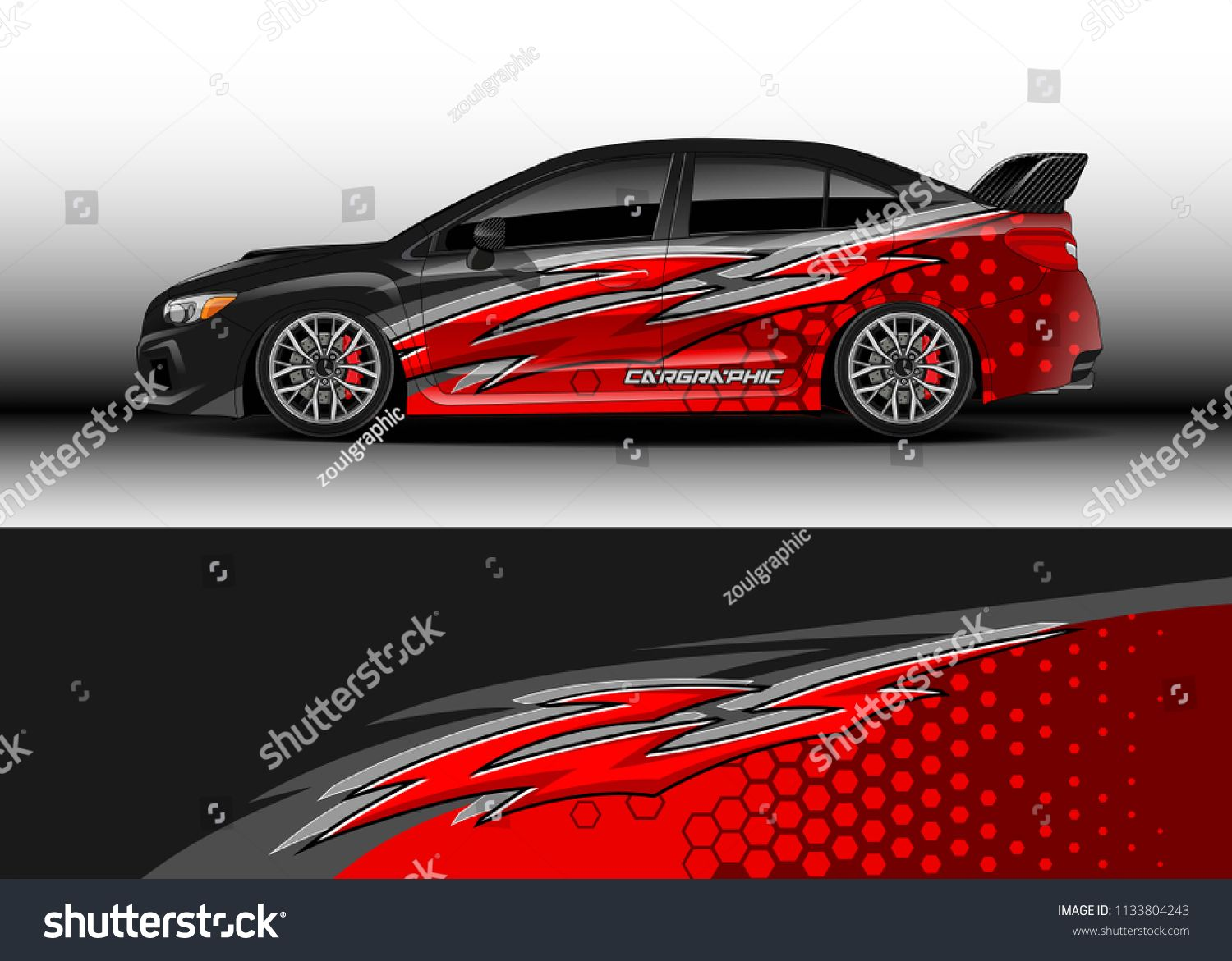 Car decal graphic vector wrap vinyl sticker graphic abstract stripe designs for race and drift livery car