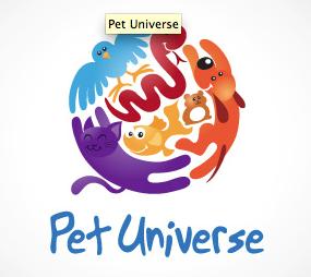 Pet Universe Logo Logotipos Logotipo Infantil Diseno De Logotipos
