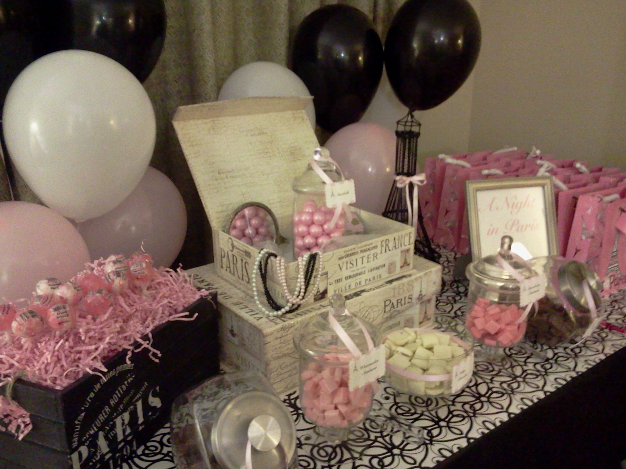 CharliesCandyBuffets Candy Buffet 2 Go Paris themed candy