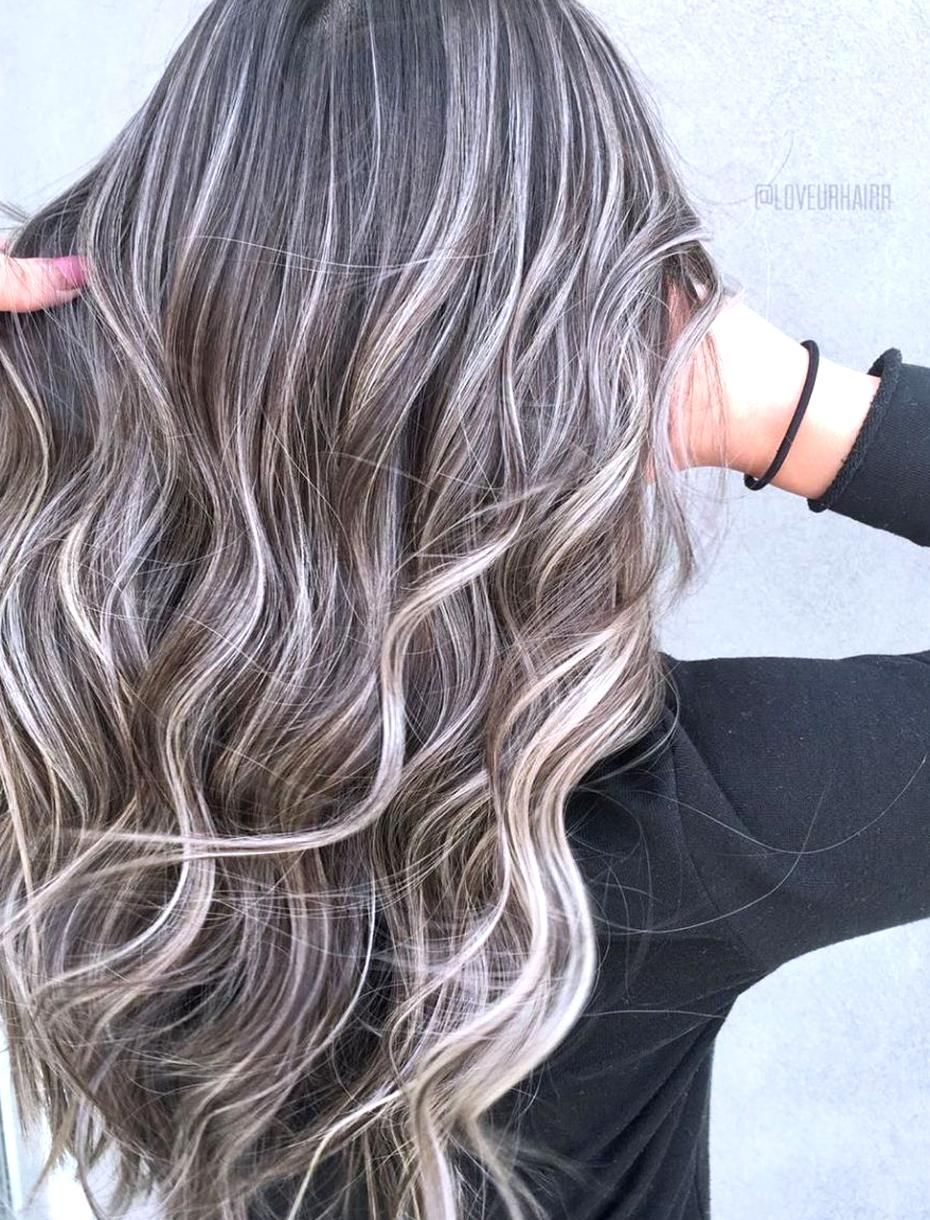 Dark Hair With Thin Blonde Highlights In 2020 Dark Hair With Highlights Blonde Highlights On Dark Hair Ash Blonde Highlights On Dark Hair
