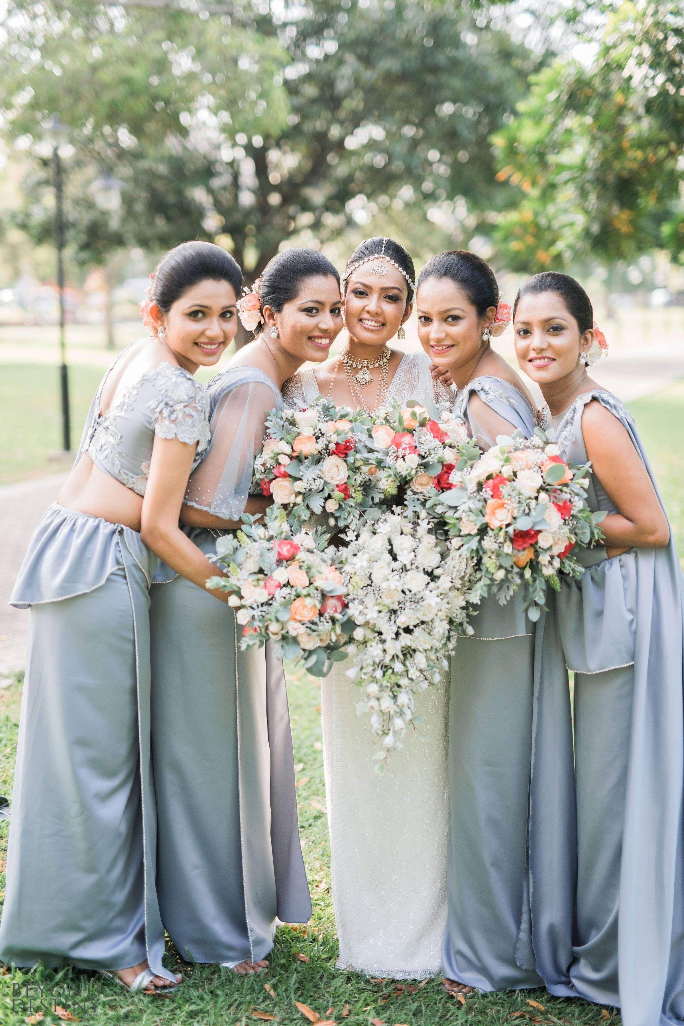 Wedding Srilanka Bridesmaid Bride Bridesmaid Saree Bride Reception Dresses Bridesmaid Dresses