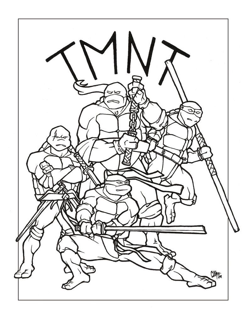 Tortugas ninja para pintar - Dibujos para colorear - IMAGIXS ...