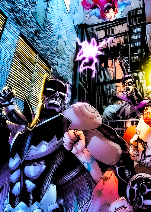 Smallville Superman Meets Batman And Nightwing Trinity Batman
