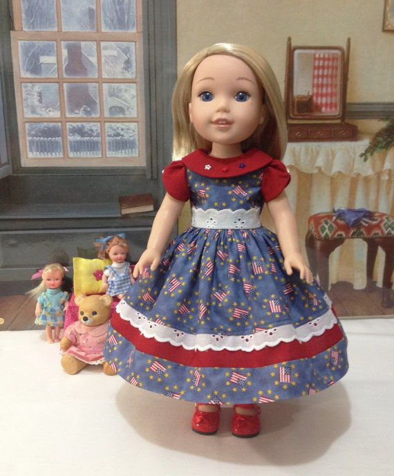 """Custom order for Penny H4H """" Yankee Doodle Dandy""""dress and Wellie Wisher """"Old Glory"""" dress  DO NOT PURCHASE this listing for Penny"""