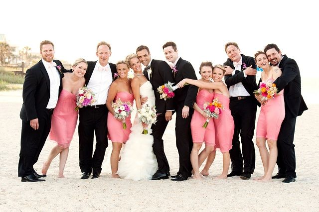 Bright Pink Beach Wedding: Katie & Mike at Ponte Vedra Lodge ...