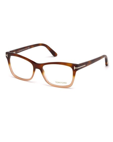 2a5d907f2cf39 TOM FORD Square Two-Tone Optical Frames