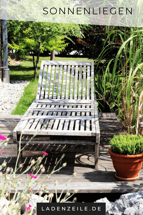 Auf Einer Sonnenliege Kannst Du Entspannt Den Feierabend Und Das Wochenende Im Grunen Geniessen Sonnenliege Holzliege Gartenliege