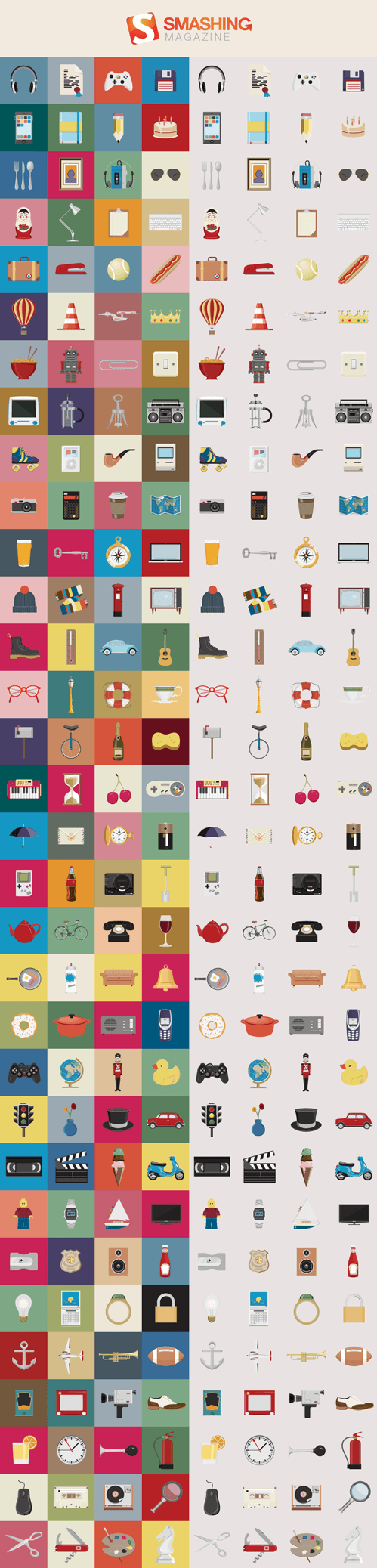 Freebie: Nice Things Icon Set (128 Icons, PNG + AI Source) by Chris Behr on Smashing Magazine