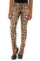 Royal Bones Allover Leopard Print Skinny Jeans
