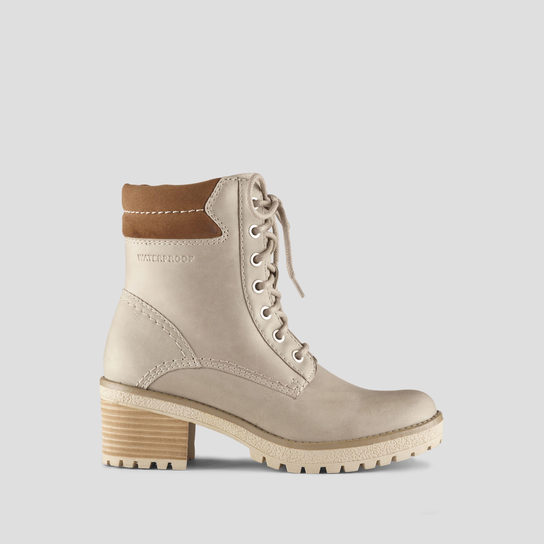 e834b63d984e Danbury Leather Lace-Up Heeled Hiker Boot - Mushroom