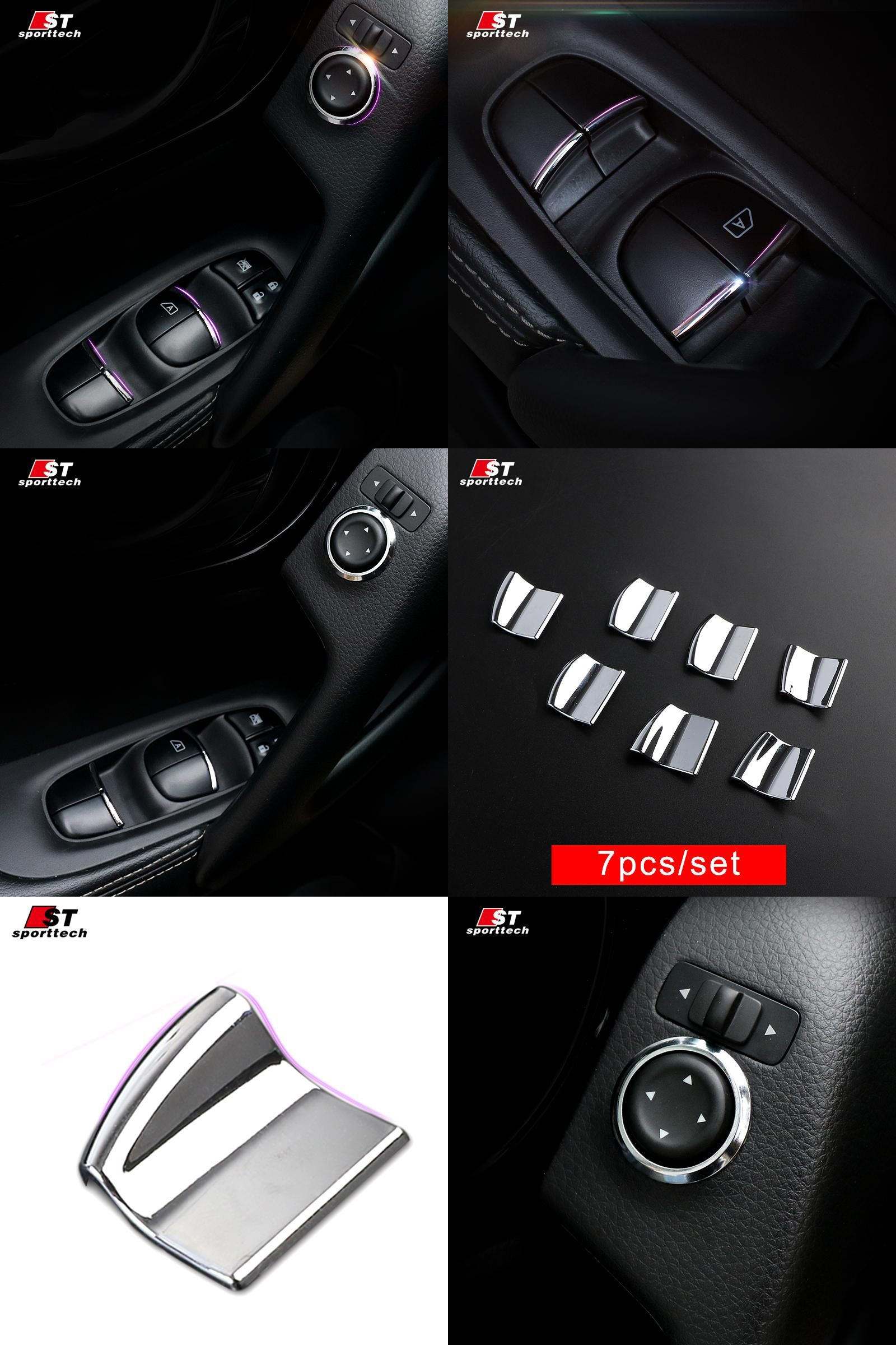 [Visit to Buy] Car Styling Window Button Sticker For