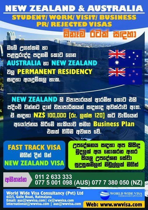 New Zealand Australia Visa Student Work Visit Business