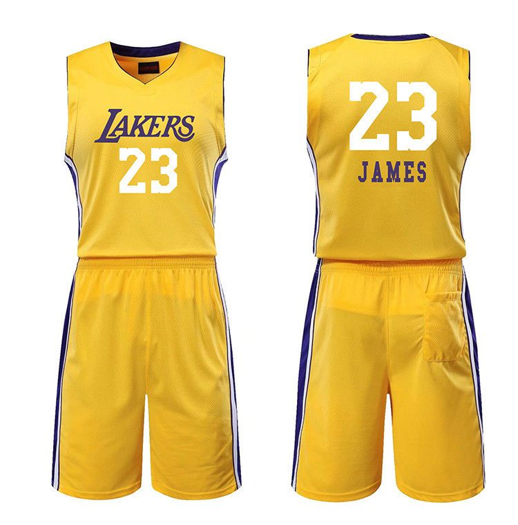 e0448eeda KIDS BOY YOUTH LEBRON JAMES  23 LA Lakers BASKETBALL JERSEY W  SHORT SET  (LJ01)  sports  basketball  trending