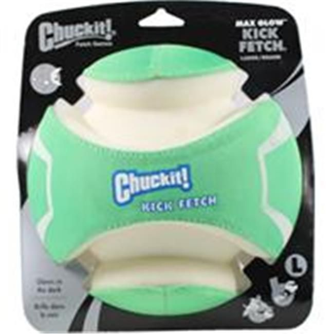 Interactive Dog Toys Canine Hardware 012166 Chuck It Max Glow Kick Fetch Dog Toy - Large