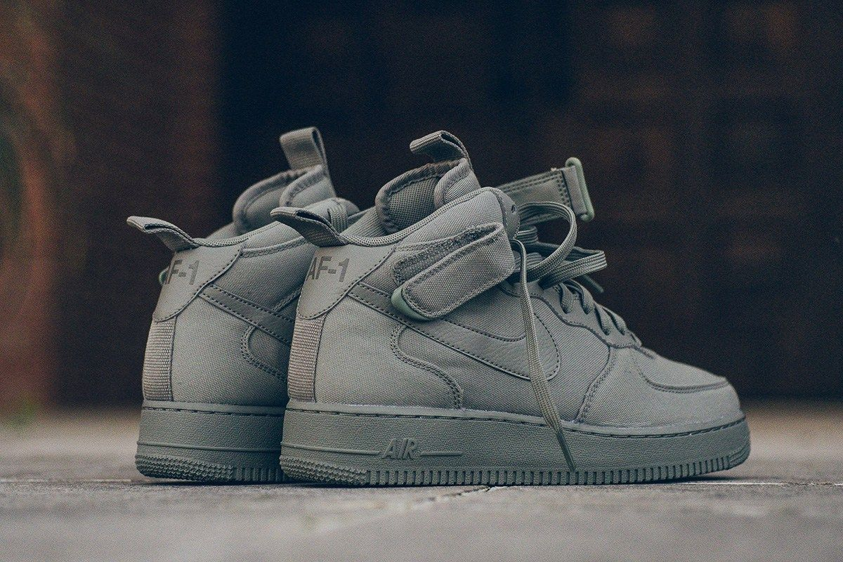 Nike Air Force 1 Mid 07 Canvas Dark Stucco Eukicks Com Sneaker Magazine Toms Shoes For Men Sneakers Running Shoes For Men