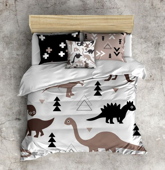 My 1st Big Boy Bed Set! Fleece Dinosaur Bed Set, Dino ...