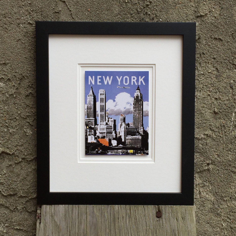 Framed Artwork New York Vintage Travel , Home Decor, New York City ...