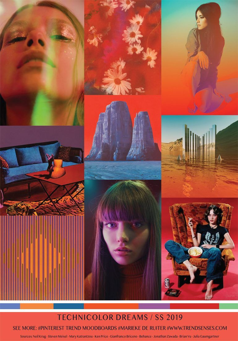 MOODBOARD - TECHNICOLOR DREAMS - SPRING SUMMER 2019 | SS ...