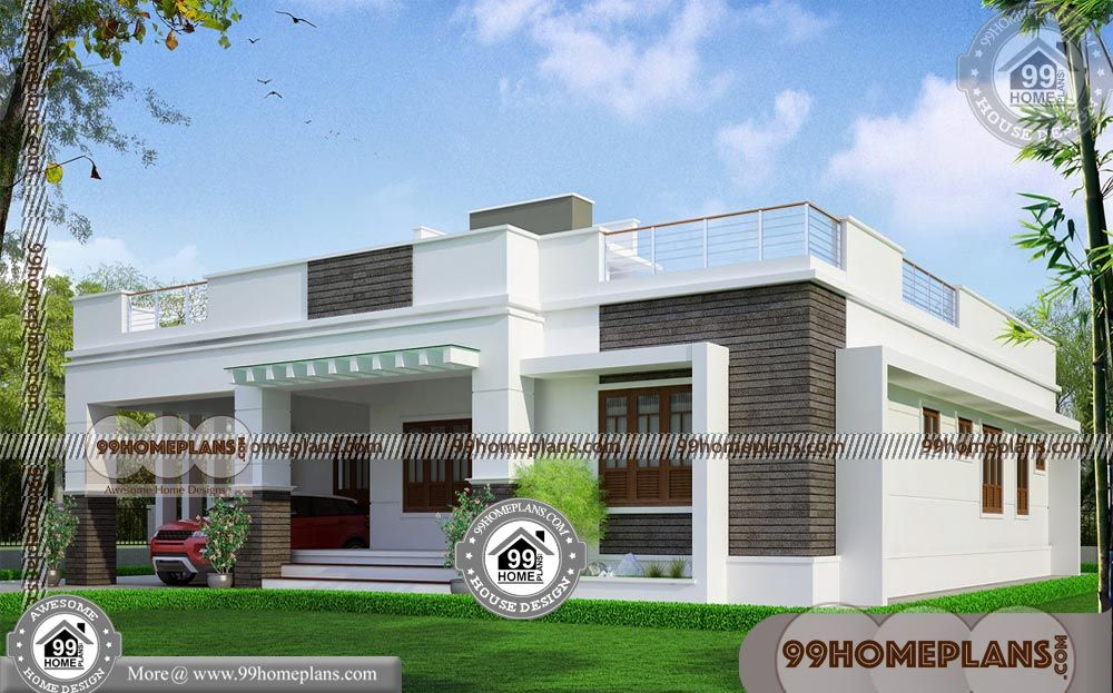 169da522b2f62468374b05d9e135c033 - Download Modern Simple Flat Roof House Low Cost Small House Design Images