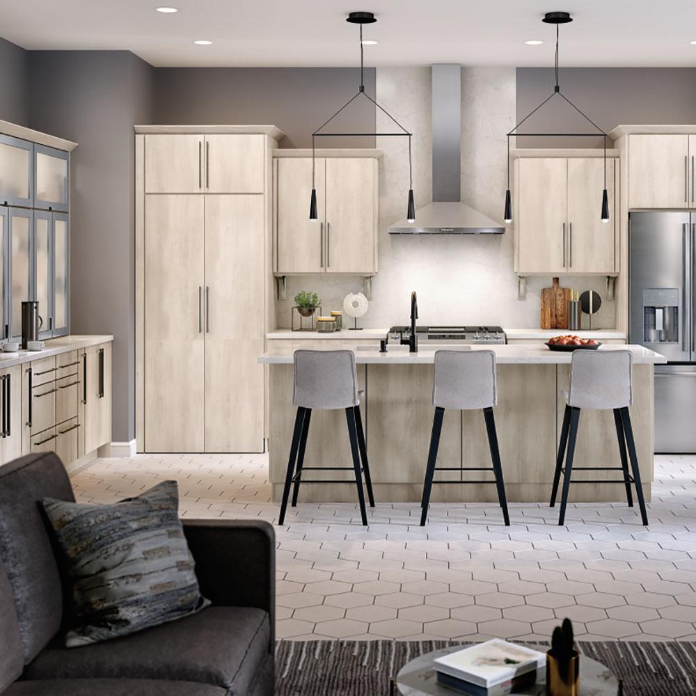 Home Depot Design Ideas: Thomasville Classic Custom Kitchen Cabinets Shown In
