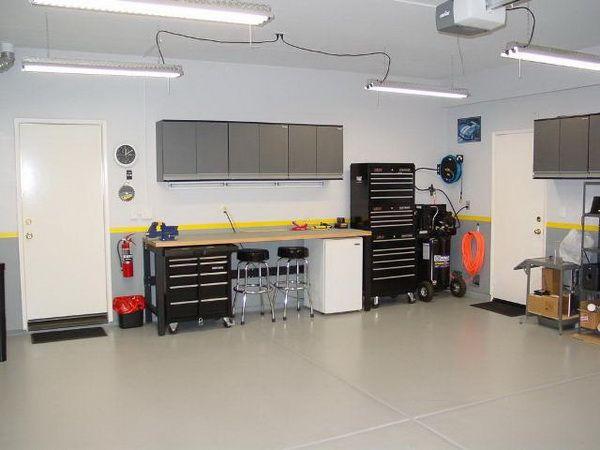 Pin by Rachelle Draughon on Garage | Garage flooring options, Garage  lighting, Coffee shop lighting
