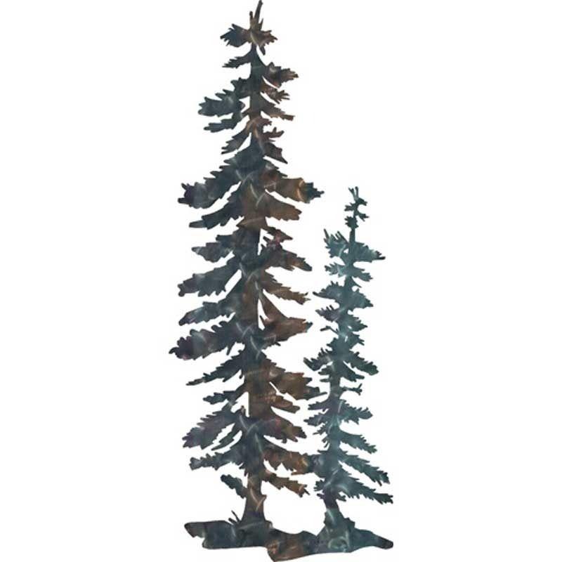 Metallic Tree Duo Metal Tree Wall Art Home Decor Metal Tree