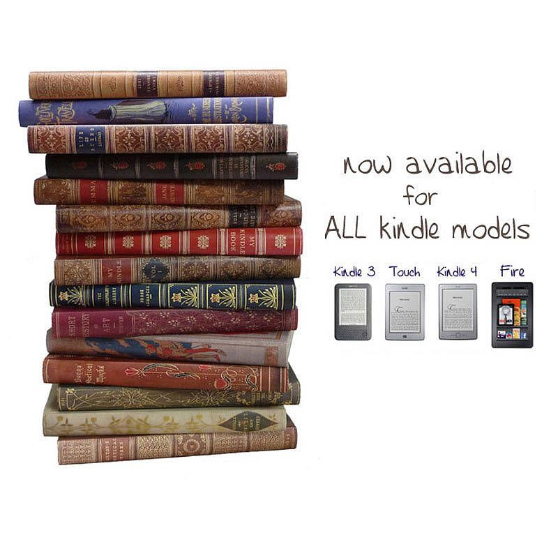 Classic book cover kindle case in various designs cover