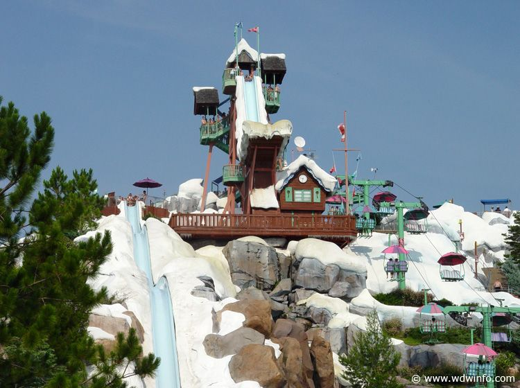 Summit Plummet In Disney S Blizzard Beach At Walt World Resort Orlando Florida
