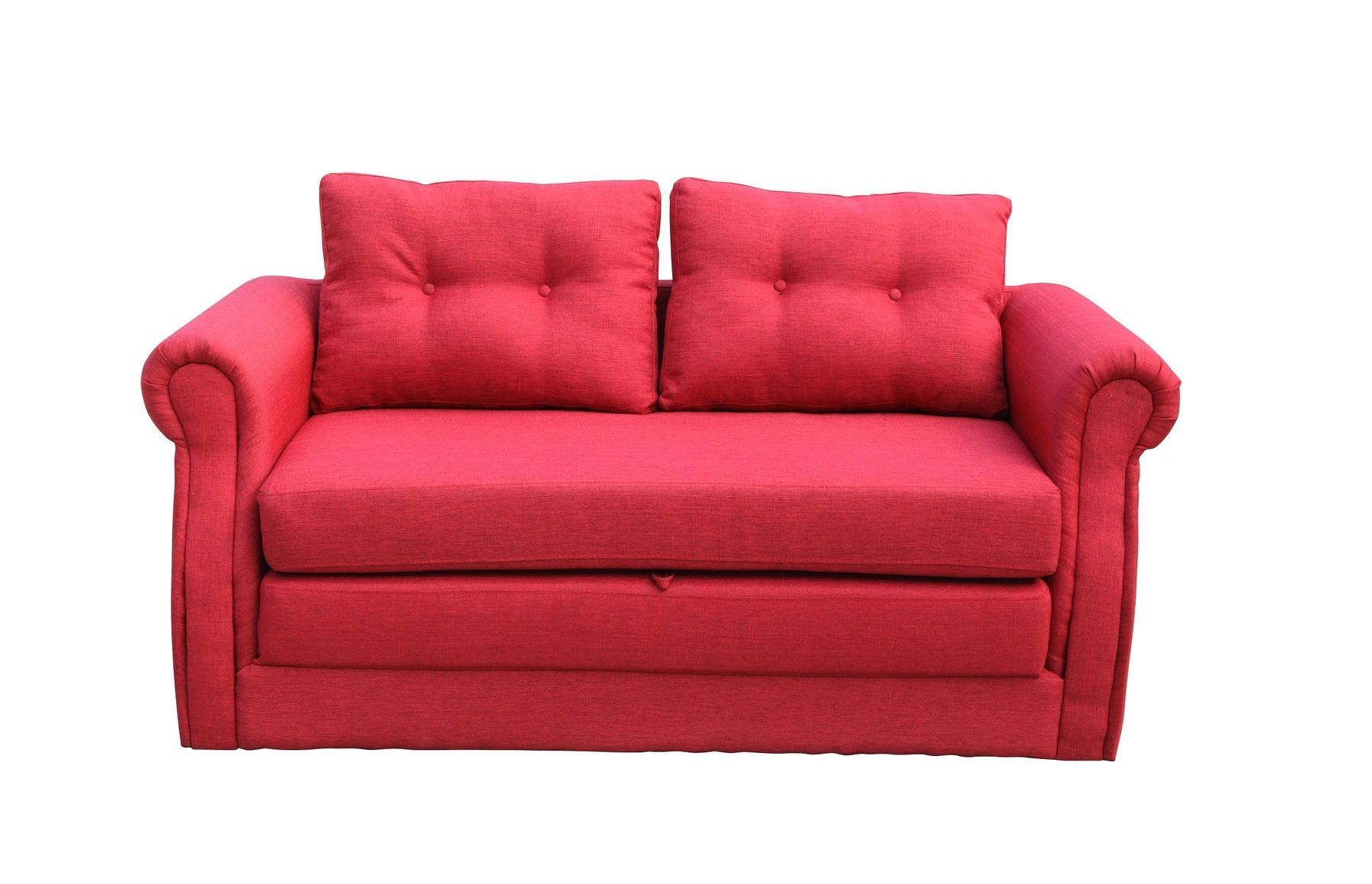 Spec Inc Lucca Red Convertible Sofa Bed