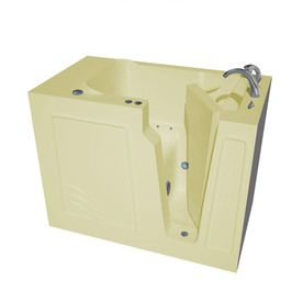 Endurance 52-In Biscuit Gelcoat/Fiberglass Walk-In Air Bath With Right-Hand Drain Ls2952rba