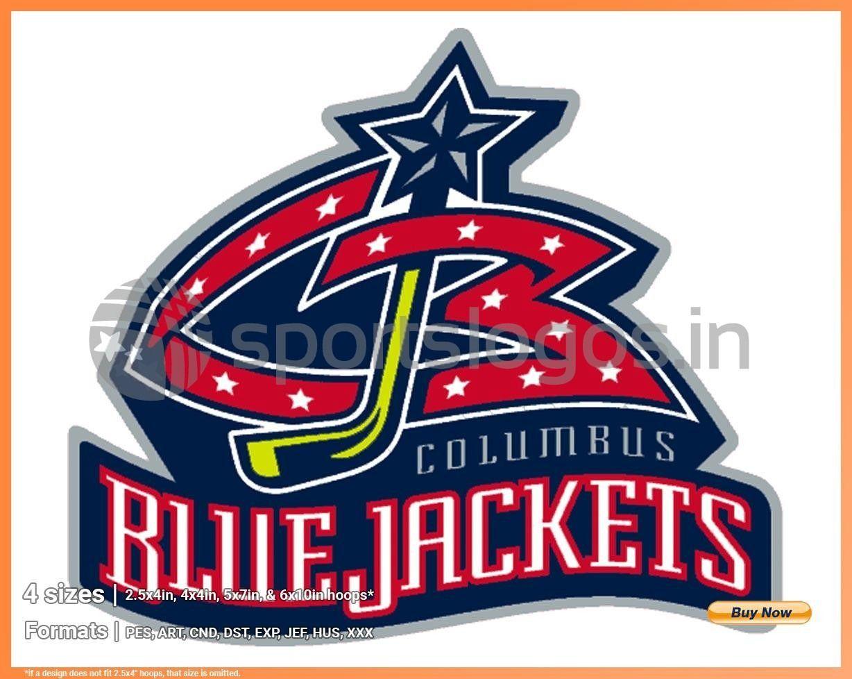 Columbus Blue Jackets - Hockey Sports Embroidery Logo in 4 ...