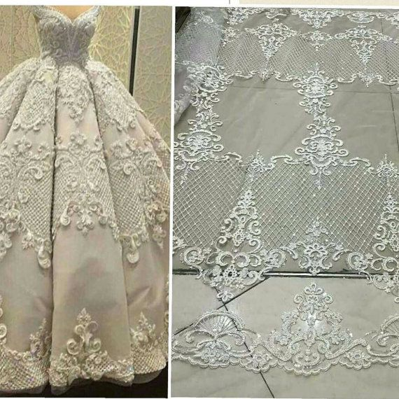 Amazing Elegent tulle lace bridal lace fabric fashion by Qualitylace