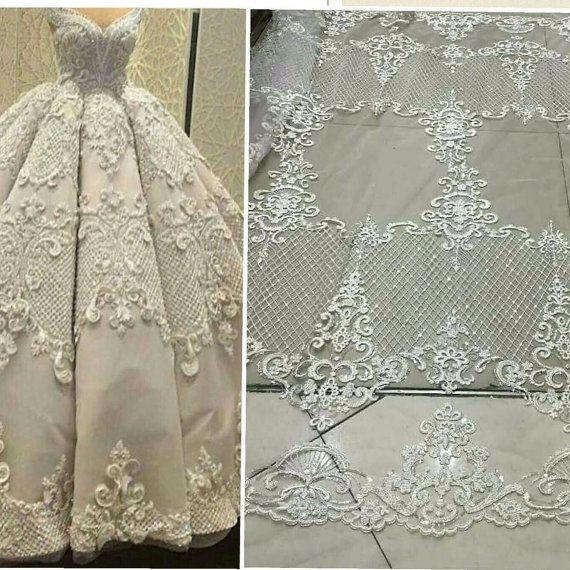 Wedding Dress Fabric.Elegent Tulle Lace Bridal Lace Fabric Fashion Wedding Dress Fabric