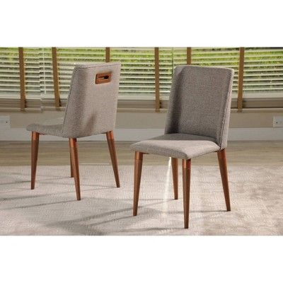 Set Of 2 Tampa Dining Chair With Back Handle Design Gray