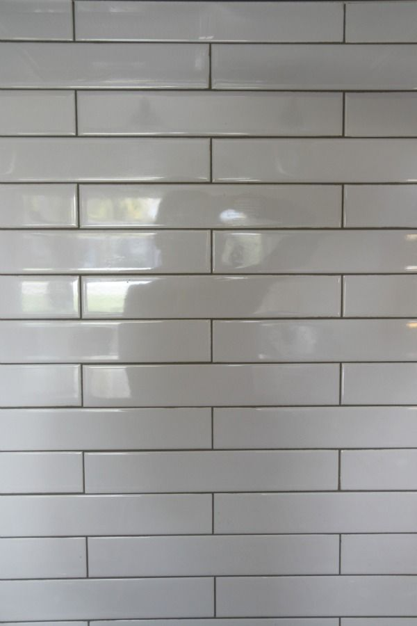 Grey Grout Bathroom White Subway Tile Kitchen Wood Floor