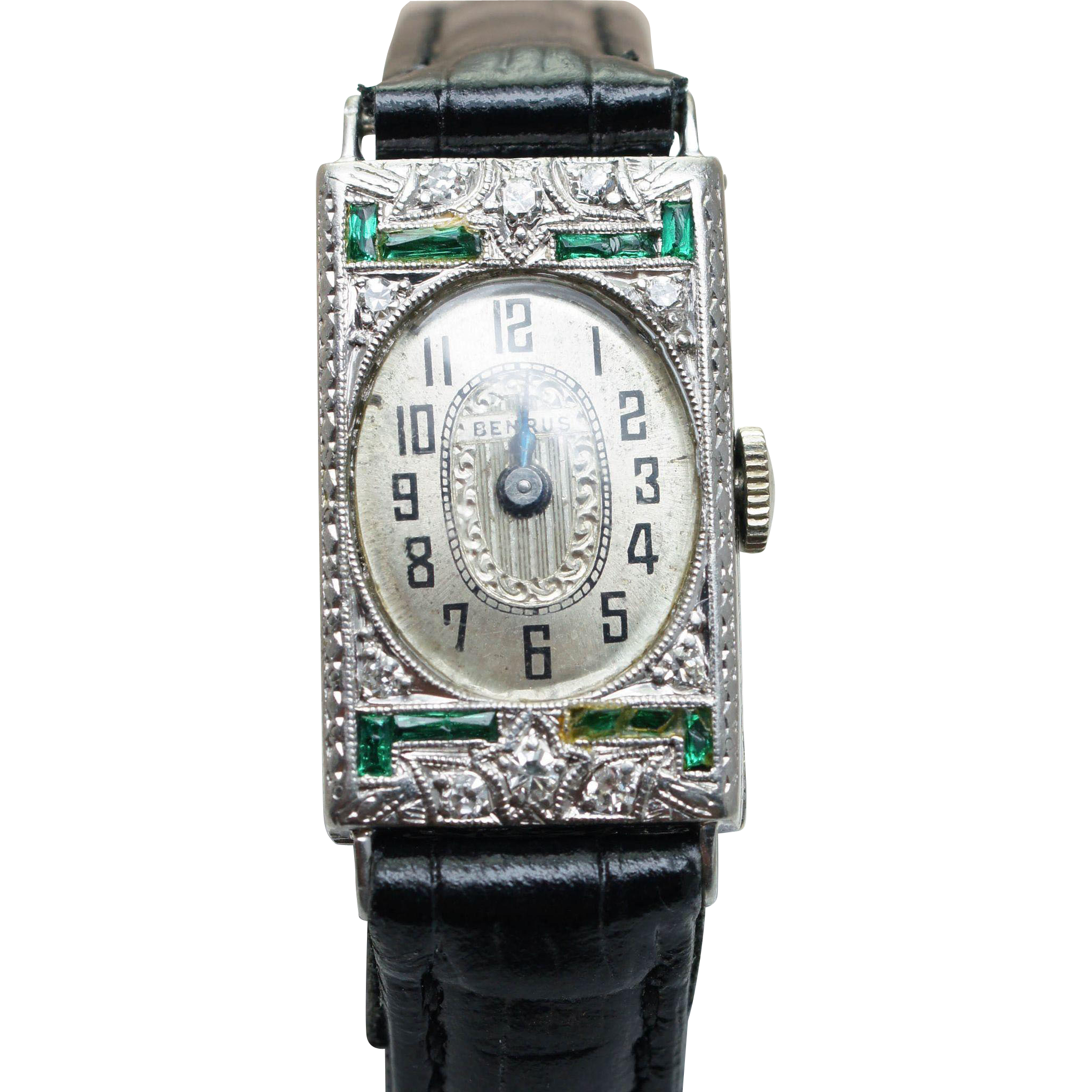 steel front s women products watch jbw watches diamond emerald stainless