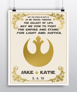 Star Wars Wedding Vows Personalized Art Star Wars Wedding Star Wars Wedding Theme Star Wars Guest Book