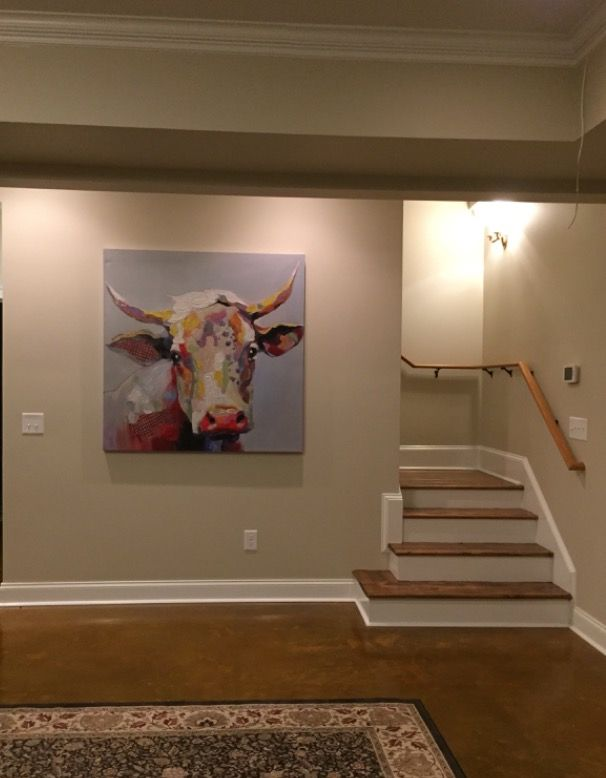 Best Stained Concrete Floors Basement Stairs Stair Rail 400 x 300
