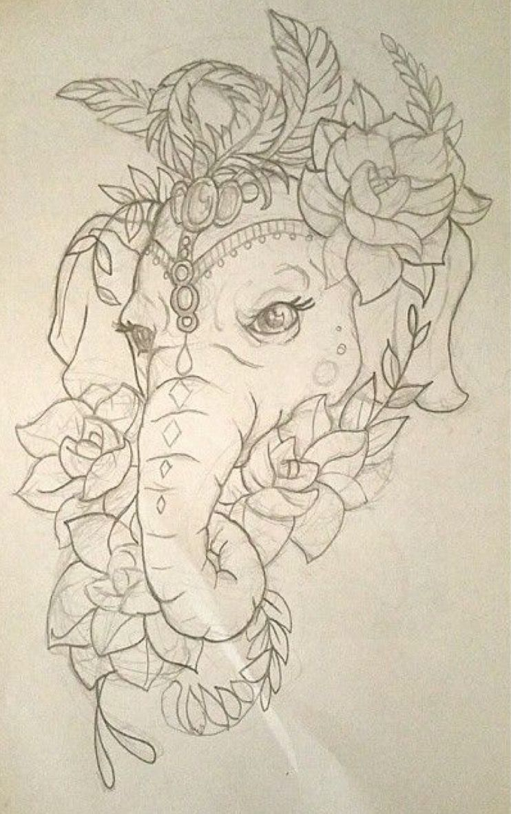 Elefante Elephant Drawing Elephant Tattoos Elephant Tattoo Design