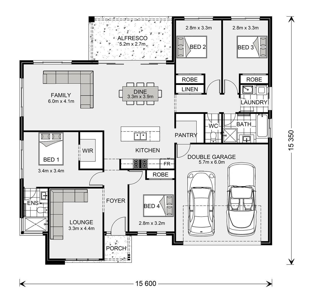 Floor Plan Wide Bay 212 Element Series Floor plans