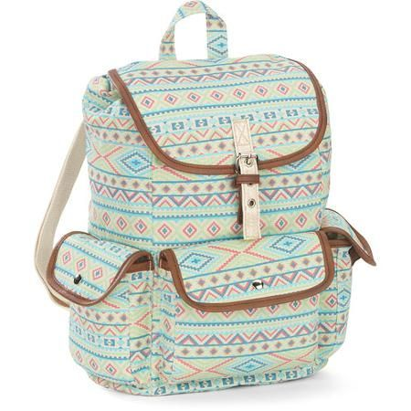 424a186e3c No Boundaries 18   Printed Canvas Buckle Flap Backpack