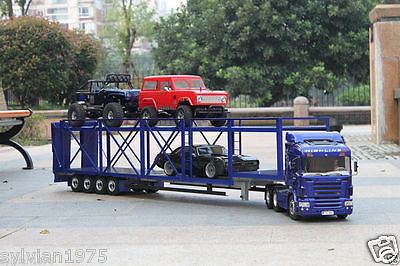 1 099 00 4 Axis Large Aluminum Auto Car Cargo Semi Trailer For Tamiya 1 14 Tractor Truck Type Trucks Scale 1 14 Gender Boys Girls State Of Assemb