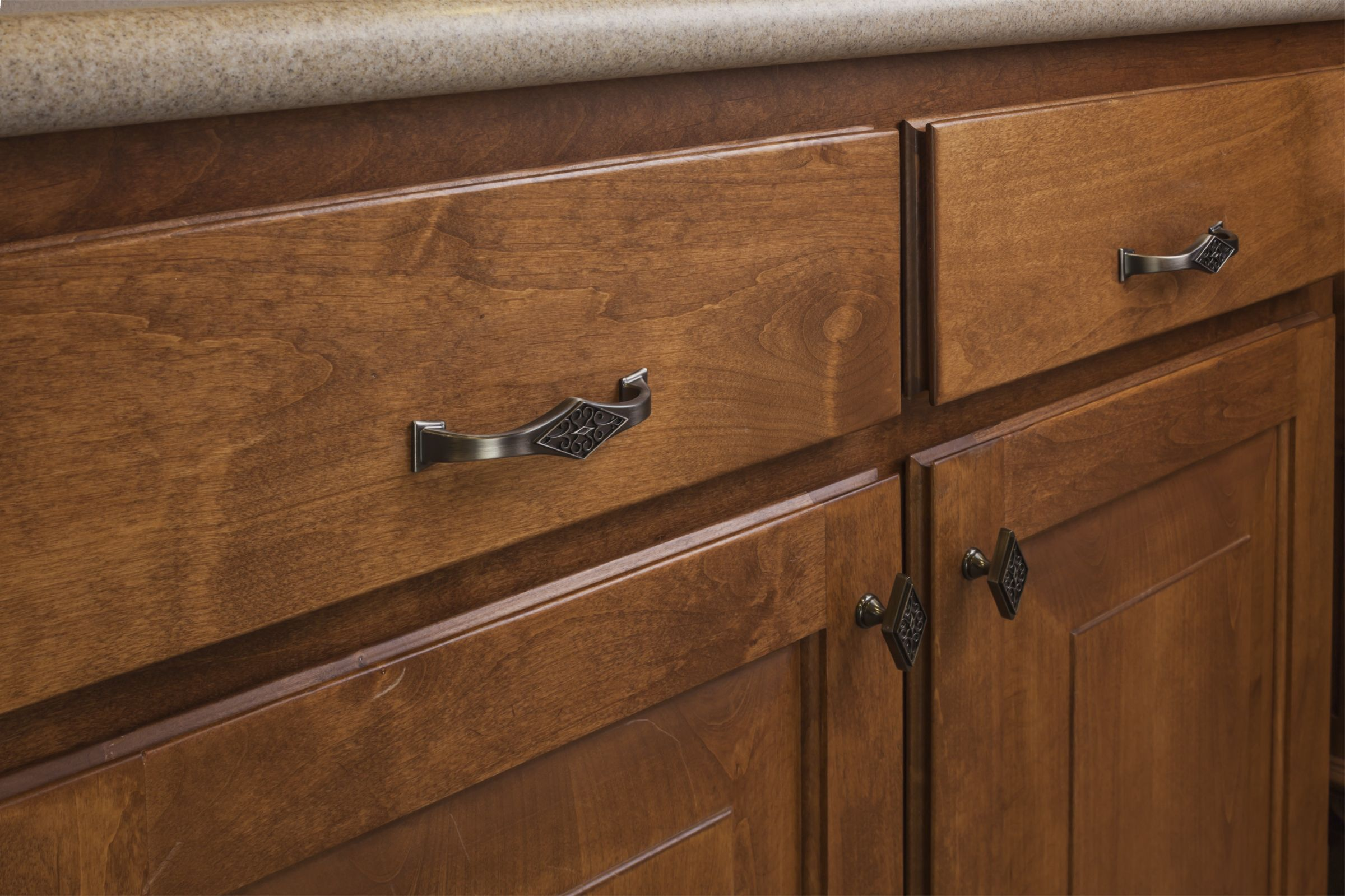 Marvella cabinet knobs and pulls from Jeffrey Alexander by Hardware