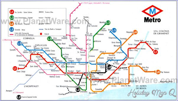 cool Spain Metro Map Holidaymapq Pinterest