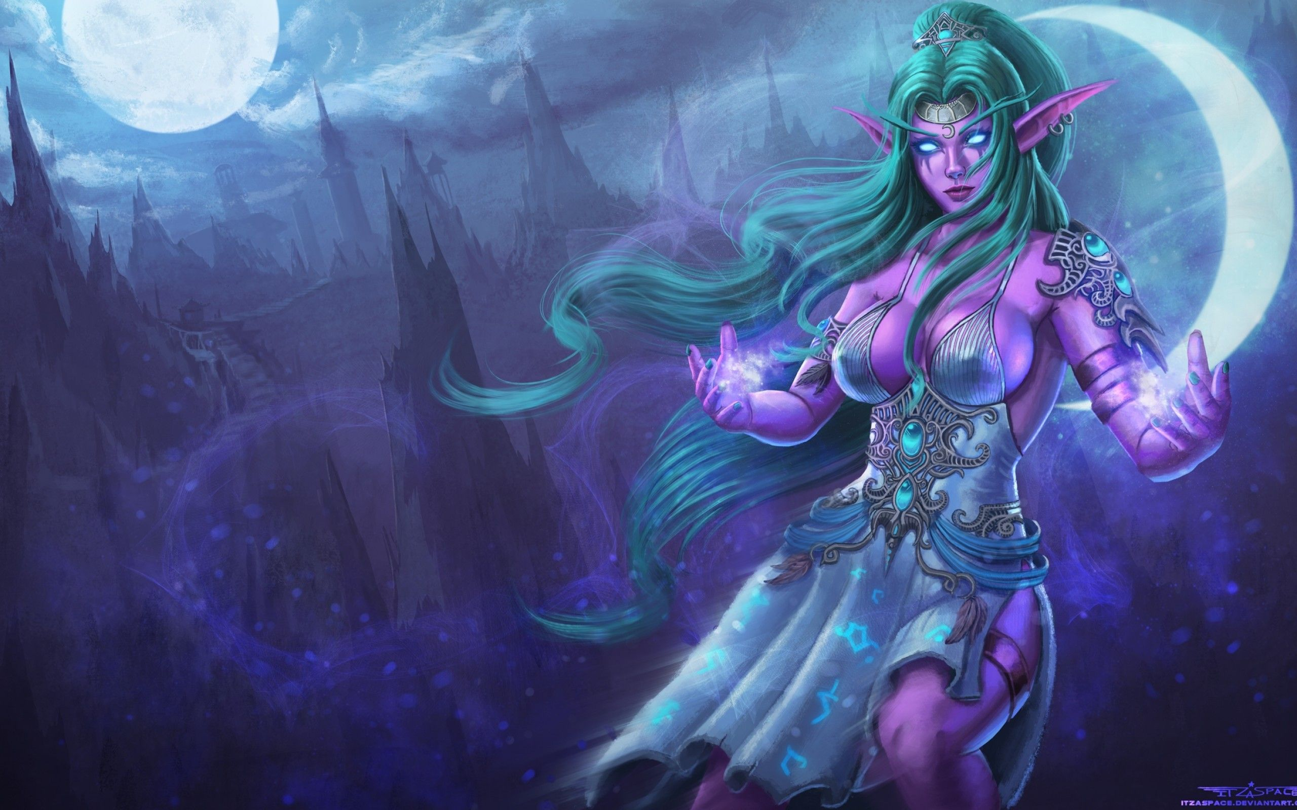 Download 2560x1600 Tyrande Whisperwind Blizzard World Of