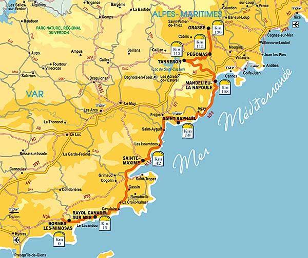 routes des Mimosas